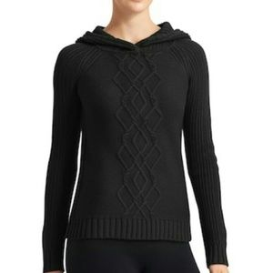 Athleta Cold Spell Merino Wool Cable Knit Hoodie